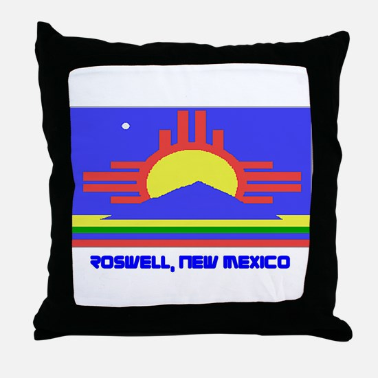 Roswell NM Flag Throw Pillow