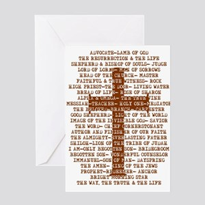 Names of Jesus with Cross Greeting Card