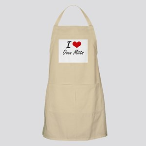 I Love Oven Mitts Apron