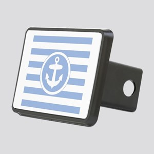 Blue Anchor and stripes Rectangular Hitch Cover