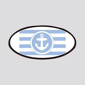 Blue Anchor and stripes Patch