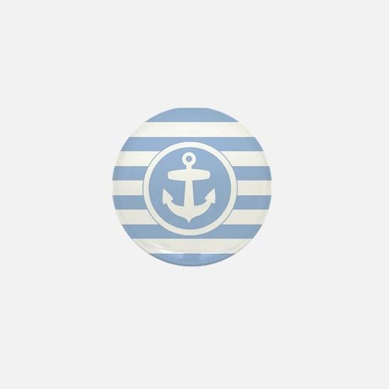 Blue Anchor and stripes Mini Button