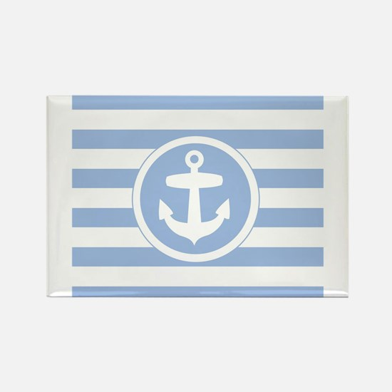 Blue Anchor and stripes Magnets