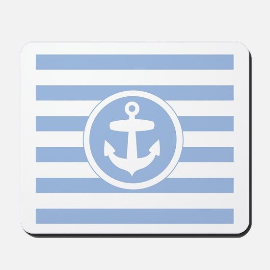 Blue Anchor and stripes Mousepad