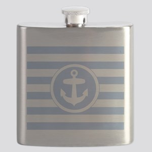Blue Anchor and stripes Flask