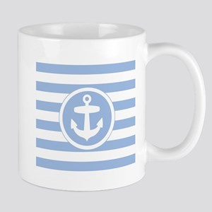 Blue Anchor and stripes Mugs