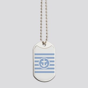 Blue Anchor and stripes Dog Tags
