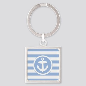 Blue Anchor and stripes Keychains