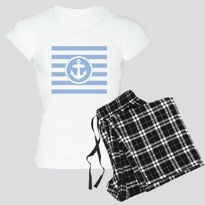 Blue Anchor and stripes pajamas