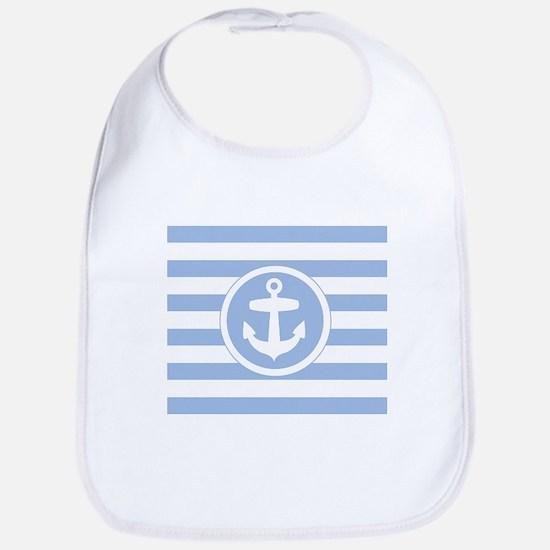 Blue Anchor and stripes Bib