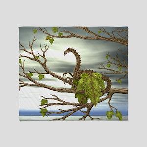 maple leaf dragon Throw Blanket