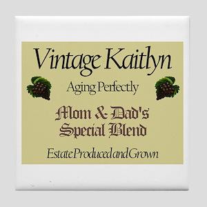 Vintage Kaitlyn Tile Coaster