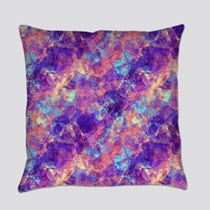 Violet Crumpled Pattern Abstract Everyday Pillow