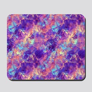 Violet Crumpled Pattern Abstract Mousepad