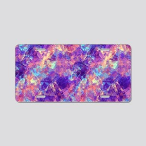 Violet Crumpled Pattern Abs Aluminum License Plate