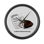 The Crab Street Journal logo Large Wall Clock
