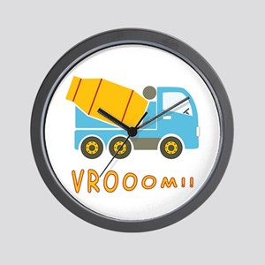 Cement mixer truck Wall Clock