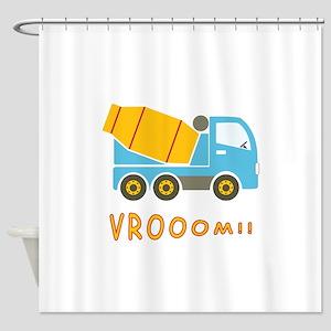 Cement mixer truck Shower Curtain