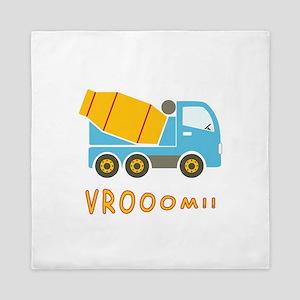 Cement mixer truck Queen Duvet
