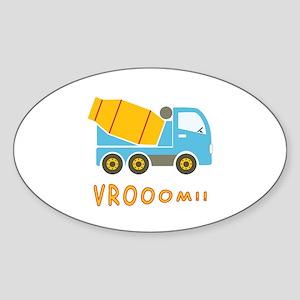 Cement mixer truck Sticker (Oval)