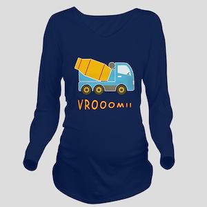 Cement mixer truck Long Sleeve Maternity T-Shirt