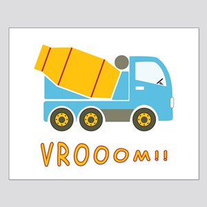 Cement mixer truck Small Poster