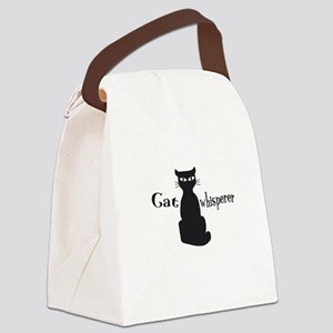 Cat Whisperer Canvas Lunch Bag
