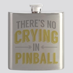 No Crying In Pinball Flask