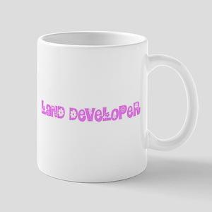 Land Developer Pink Flower Design Mugs