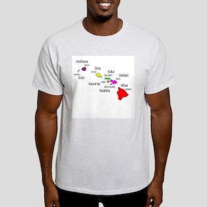 Islands of Hawai'i Light T-Shirt