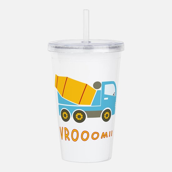 Cement mixer truck Acrylic Double-wall Tumbler