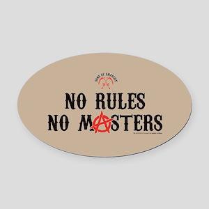 SOA No Rules Oval Car Magnet