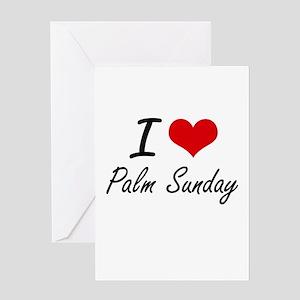 Palm sunday greeting cards cafepress i love palm sunday greeting cards m4hsunfo