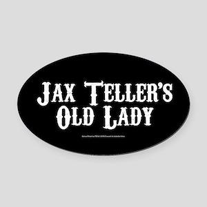 SOA Old Lady Oval Car Magnet