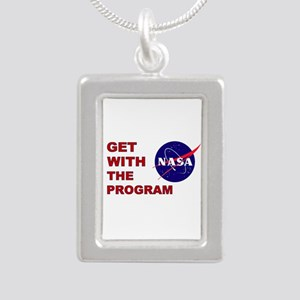 GET WITH THE PROGRAM Silver Portrait Necklace