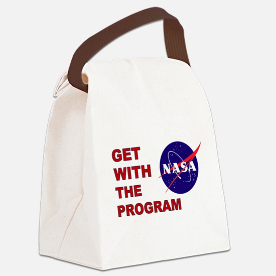GET WITH THE PROGRAM Canvas Lunch Bag