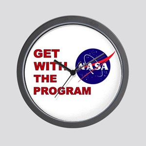 GET WITH THE PROGRAM Wall Clock