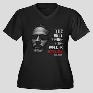 SOA Outlaw Women's Plus Size V-Neck Dark T-Shirt