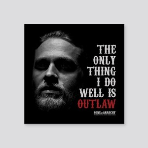 "SOA Outlaw Square Sticker 3"" x 3"""