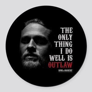 SOA Outlaw Round Car Magnet