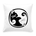 Yin-Yang-Cat Everyday Pillow