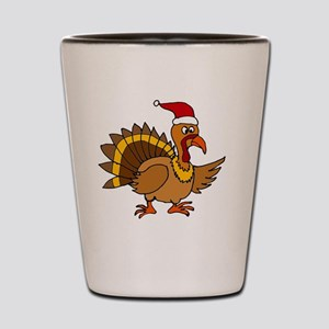 Funny Christmas Turkey Shot Glass
