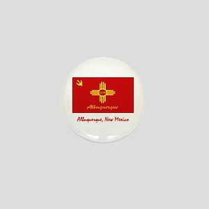 Albuquerque NM Flag Mini Button