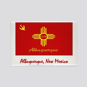 Albuquerque NM Flag Rectangle Magnet