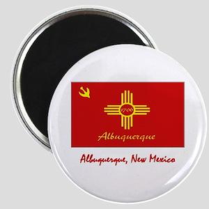 Albuquerque NM Flag Magnet
