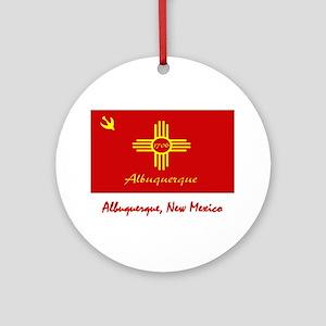 Albuquerque NM Flag Ornament (Round)