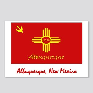 Albuquerque NM Flag Postcards (Package of 8)