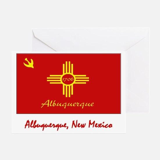 Albuquerque NM Flag Greeting Card