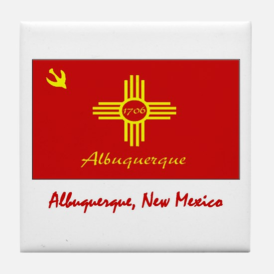 Albuquerque NM Flag Tile Coaster