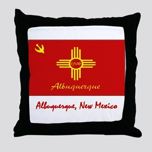 Albuquerque NM Flag Throw Pillow